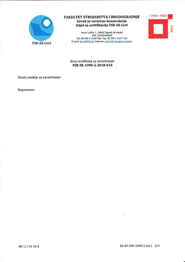 Certificates 2018
